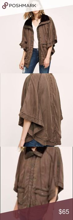 New SALE Anthropology Todra Cape by Hei Hei Beautiful , stylish cape with front pockets and snap closure. NWT Jackets & Coats Capes