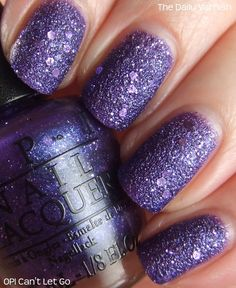 Liquid Sand line from OPI: Can't Let Go, swatched by The Daily Varnish