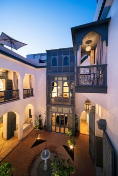 Nestled in one of the oldest neighborhoods of Marrakech, near the Medina, is Riad Adore. From the greyish blue metal and woodwork to the classic Moroccan architecture, this restored riad is filled with charm and reason Moroccan Design, Moroccan Decor, Moroccan Style, Moroccan Bedroom, Moroccan Lanterns, Villa, Interior Exterior, Exterior Design, Islamic Architecture