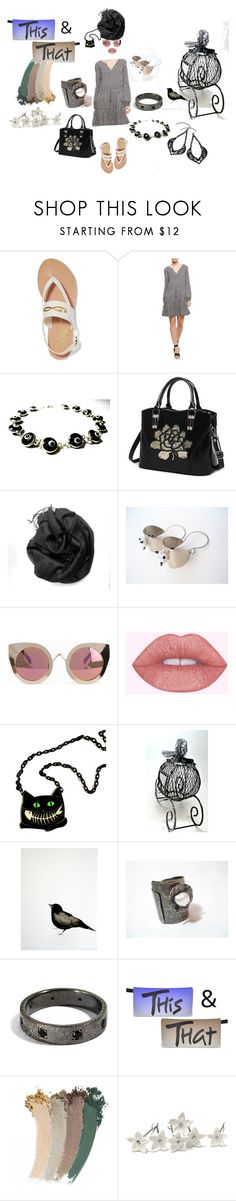 """""""This & That"""" by planitisgi ❤ liked on Polyvore featuring Ancient Greek Sandals, Sanctuary, Quay and Gucci"""