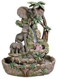 Elephant Table Fountain - Gallery of Home Decor