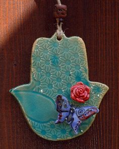 Hamsa charmTurquoise HamsaHamsa by ArtPoteryDganitBar on Etsy