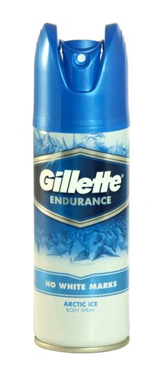 Gillette endurance no white marks body spray 150ml arctic ice