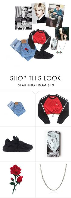 """""""A Date With Kris Wu"""" by kawaii-inspired ❤ liked on Polyvore featuring KRISVANASSCHE, Levi's, adidas, NIKE, Rianna Phillips and Gucci"""