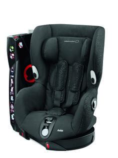Axiss - Modern Black - O que torna este produto único?  - 8 posições confortáveis, da sentada à semi-deitada - Cresce com o seu filho; arnês e apoio de cabeça ajustáveis  - O assento gira 90º para a esquerda e para a direita para que possa instalar a criança