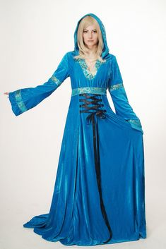DRESS ME UP L067 Lady Costume Fancy Dress Halloween long blue Elve Fairy elvish Beauty Medieval Fantasy Cosplay 38 (DE) 12 (UK) S: AmazonSmile: Toys & Games Up Halloween, Halloween Fancy Dress, Elven Queen, Flowing Dresses, Elvish, Character Costumes, Medieval Fantasy, Costumes For Women, Dress Me Up