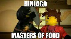 Food + Ninjago = life ^^Kai's eyes there tho