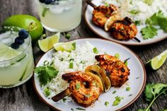 Margarita Grilled Shrimp Skewers are loaded with flavor & charred to perfection. An easy grilled shrimp recipe that'll be the star of your summer grilling! Easy Grilled Shrimp Recipes, Grilled Shrimp Skewers, Pork Rib Recipes, Kebab Recipes, Grilling Recipes, Raw Food Recipes, Seafood Recipes, Healthy Recipes, Fish Recipes