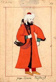 "Market inspector, ""pesa il pane Mustazib""  'Muhtezib weighs the bread' carrying…"