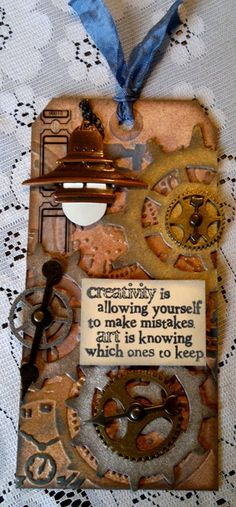 January 2013 Tim Holtz Tag Challenge - Scrapbook.com