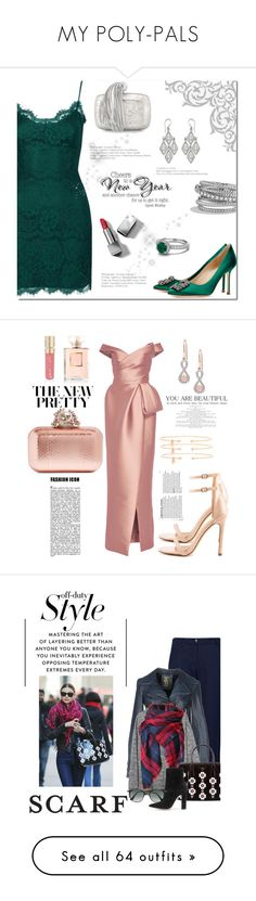 """""""MY POLY-PALS"""" by shoaleh-nia ❤ liked on Polyvore featuring Topshop, Manolo Blahnik, Burberry, Roger Vivier, NOVICA, David Yurman, danceparty, topset, Liliana and Monique Lhuillier"""