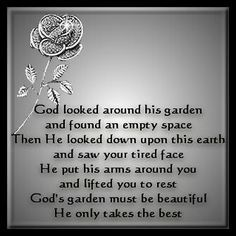 God only takes the best. Miss you dad. <3