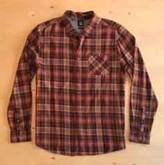 Volcom Men's Long Sleeve Button Up Shirt NWT  | eBay Button Up Shirts, Men Casual, Buttons, Long Sleeve, Sleeves, Mens Tops, Ebay, Long Dress Patterns, Cap Sleeves