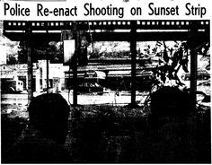 The Battle of Sunset Strip, Mickey Cohen shooting outside 9039 Sunset Blvd., July 20, 1949
