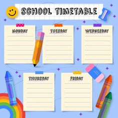 Timetable Template, Foto Frame, School Timetable, Planner Sheets, School Planner, Best Friend Photos, Weekly Planner Printable, Creative Posters, Aesthetic Backgrounds
