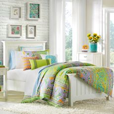 This is the perfect design and color combo!!!!! Echo Design™ Calypso Duvet Cover, 100% Cotton