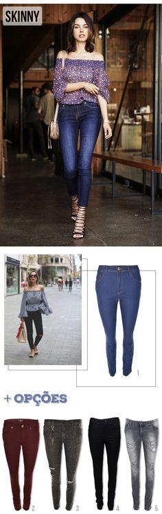 Jeans Lovers: Modelos de Jeans | Skinny #moda #dicas #look #outfit #blog #comousar #getthelook #jeans #denim #lnl #looknowlook