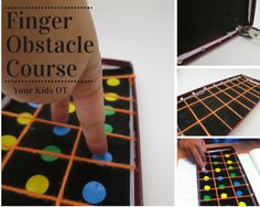 A finger obstacle course, a quick to make finger game! These look really cute and fun!