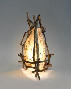 Driftwood and handmade paper IlluminationbyDesign.com