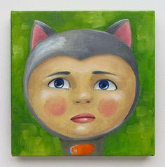 Miki Portrait Original Art Baby Babe Cat Onesie by MikiMayoShop