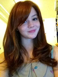 went with bangs and layers! i love it! - Imgur