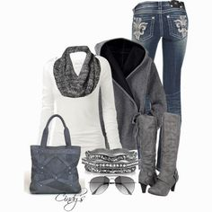 Winter Outfits | Gray and White