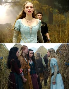 Red Riding Hood (2011) Starring: Amanda Seyfried as Valerie, Shiloh Fernandez as Peter, Carmen Lavigne as Rose, Shauna Kain as Roxanne, and Kacey Rohl as Prudence. Unwilling to lose each other, Valerie and Peter are planning to run away together when they learn that Valerie's older sister has been killed by the werewolf that prowls the dark forest surrounding their village.