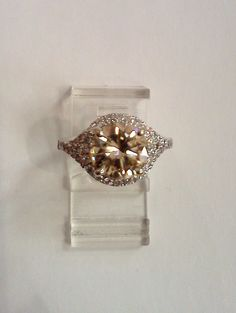 love the vintage feel of this champagne diamond ring!!!!
