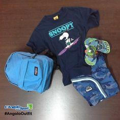 Al mare! T-shirt e costume #Sundek Infradito #Havaianas Zainetto #Eastpak #AngoloOutfit Bambino by Laura Laghetti