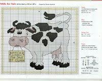Cross Stitch / Cross stitch: Cows