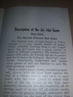 SEE CUBA TOUR BOOKLET 1928 JAI ALAI