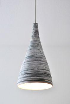 """Shade of clay"" pendant / handthrown lampshade/ isabel hamm licht"