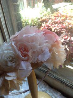 silk floral coronet
