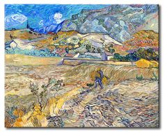 MU_VG2091 t_Van Gogh _ Enclosed Field with Peasant / Cuadro Paisaje, Campo con Campesino