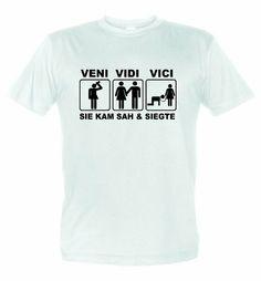 "Shirt Captain Junggesellenabschied T-Shirt mit Aufdruck ""VENI VIDI VICI SIE KAM SAH & SIEGTE"" ShirtCaptain, http://www.amazon.de/dp/B00IYSHBWK/ref=cm_sw_r_pi_dp_Rh0ltb0T4PF8D"