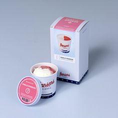 Hansens Ice cream packaging