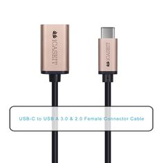 Amazon.com: iCASEIT USB Type C (USB-C) to USB 3.0 A Female Cable for USB Type-C Devices Including the new MacBook, ChromeBook Pixel, Nokia N1 Tablet, OnePlus 2 & Other Type-C Supported Devices - GOLD 20cm: Computers & Accessories