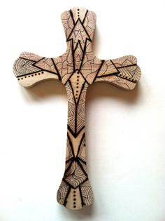 Wood burned cross $15 on etsy Plain wood crosses also for sale at DIY Greek