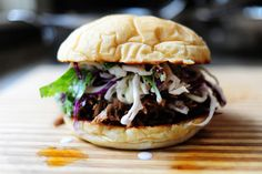 Pork Sandwiches with Cilantro-Jalapeno Slaw -- ok, y'all - get off of Pinterest and get to the grocery store because you need to go make this! right now!!