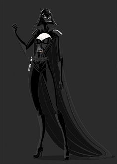 Female Darth VaderFemale Stormtrooper   Madrid (Spain)-based artist Estela Villas has created a series of illustrations imagining what some popular Star Wars characters would have looked like if they were all women.    i just saw 'big hero 6', and the female characters were rendered in illustration completely dripping in sexist cliches.  sigh.  2014.  and this is what my 8 year old daughter is sees.  really?  depressing.
