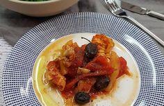 Pollo a la pimienta con espinacas