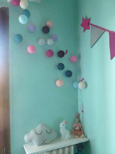 Veilleuse lapin / cloud pillow / cotton ball string lights Tutos Béa.BA Création