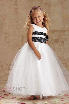 A-line/Princess Scoop Hand-made Flower Cute Flower Girl Dresses- 30%-70% Off Australia - Dresshop.com.au