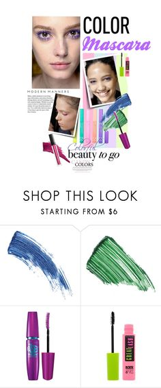 """""""Color Mascara"""" by watereverysunday ❤ liked on Polyvore featuring beauty, Eyeko, By Terry and Maybelline"""