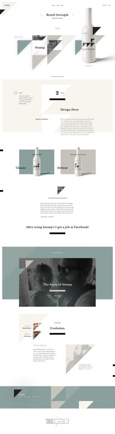 Stump's Beard Strength – Ui design concept and visual style by Ben Johnson.