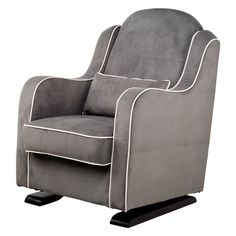 Have to have it. Babyletto Nara Glider in Slate with Ecru Piping $749