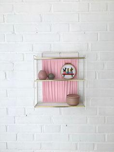 Vintage Regal, kleines Wandregal, Badezimmerregal, Ablage, Garderobe , Vintage Interior von moovi auf Etsy