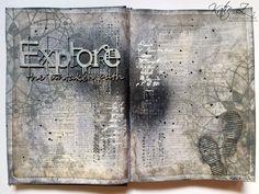 Explore the Untaken Path Art Journal Spread
