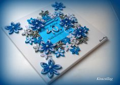 quilling blue flowers