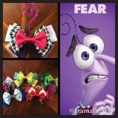 Disney Pixar's Inside Out, meet Fear! #handmade #fear #disney #pixar #hairbows…